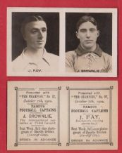 Southport Jimmy Fay & Third Lanark Jimmy Brownlie Scotland